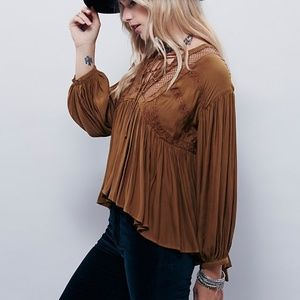Free People Don't Let Go Peasant Boho Top small